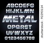 vector set of silver metallic... | Shutterstock .eps vector #92293114