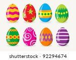 colorful easter eggs | Shutterstock .eps vector #92294674