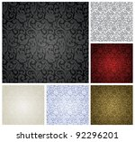 pattern seamless  set vector | Shutterstock .eps vector #92296201