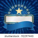 vector ten stars with blank... | Shutterstock .eps vector #92297443
