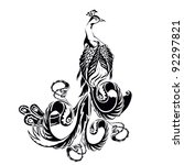 peacock | Shutterstock .eps vector #92297821