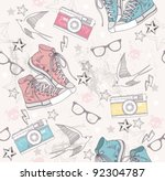 Cute Grunge Abstract Pattern....