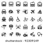 set of vector transportation... | Shutterstock .eps vector #92309149