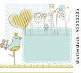 baby shower vector illustration | Shutterstock .eps vector #92313235