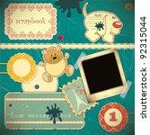 scrapbook vintage design... | Shutterstock .eps vector #92315044