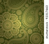 paisley seamless | Shutterstock .eps vector #92317663
