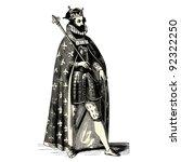 King   Vintage Engraved...
