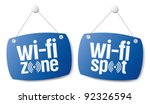 wi fi internet signal signs to... | Shutterstock .eps vector #92326594