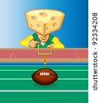 cartoon,cheese,cheese-head,football,green bay,mascot,packers,spots,stadium,wisconsin