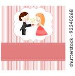 valentine card | Shutterstock .eps vector #92340268