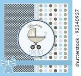 baby shower announcement   Shutterstock .eps vector #92340937