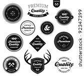 set of vintage retro premium... | Shutterstock . vector #92347399
