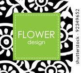 vector floral background | Shutterstock .eps vector #92349652