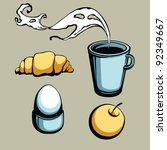 breakfast set   Shutterstock .eps vector #92349667