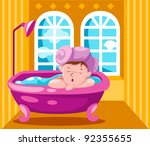 illustration of landscape kid... | Shutterstock . vector #92355655