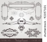 vintage set element | Shutterstock .eps vector #92357101