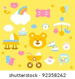 simple baby icon collection | Shutterstock .eps vector #92358262