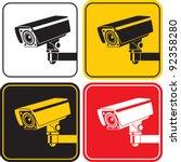 video surveillance camera sign. ... | Shutterstock .eps vector #92358280