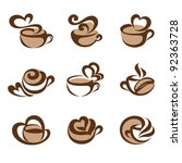 coffee. icons set.   Shutterstock .eps vector #92363728