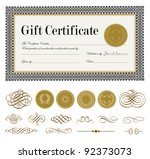 Gift certificate free vector art 3736 free downloads vector ornate gift certificate and ornaments easy to edit perfect for certificates and awards gift voucher template yadclub Gallery