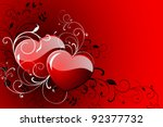 happy valentine's day greeting... | Shutterstock .eps vector #92377732