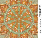 ornamental lace pattern  circle ... | Shutterstock .eps vector #92378695