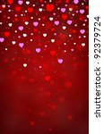 red background with colorful... | Shutterstock . vector #92379724