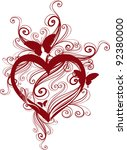 valentine's day  background... | Shutterstock .eps vector #92380000