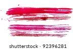 watercolour red brush texture | Shutterstock . vector #92396281