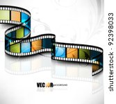 eps10 vector 3d film strip... | Shutterstock .eps vector #92398033