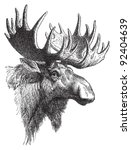 alces,ancient,animal,antique,antler,area,artwork,beast,big,black,buck,bull,canada,deer,drawing