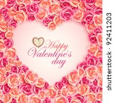 valentine s day card on pink...