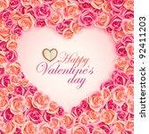 valentine s day card on pink...