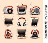 multimedia icons | Shutterstock .eps vector #92419690