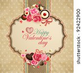 valentine s day vintage lace... | Shutterstock .eps vector #92422900