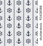 seamless blue nautical... | Shutterstock .eps vector #92428588
