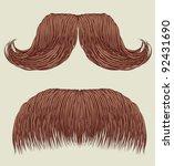 Moustaches For Man.vector Set...