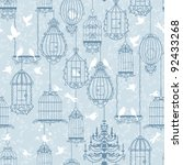 Birds And Birdcages Pattern....