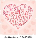 background    be my valentine | Shutterstock .eps vector #92433310