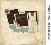 vintage fashion scrap  set | Shutterstock .eps vector #92434852
