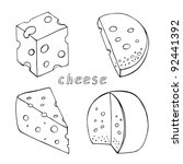 sketch cheese collection | Shutterstock .eps vector #92441392