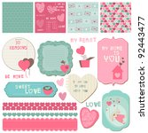 scrapbook design elements  ... | Shutterstock .eps vector #92443477