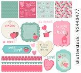 scrapbook design elements  ... | Shutterstock .eps vector #92443477
