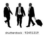 business people walking | Shutterstock .eps vector #92451319