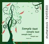 tree of hearts | Shutterstock .eps vector #92455303