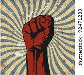 gesture of hand in a vector... | Shutterstock .eps vector #92471233