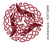 ancient celtic ornament with a... | Shutterstock .eps vector #92472898