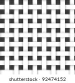 halftone weave pattern - stock vector
