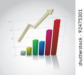 eps10 business graph with arrow ... | Shutterstock .eps vector #92475301