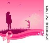breast cancer awareness... | Shutterstock .eps vector #92477896